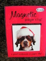 Christmas Puppies - Pup in Santa Hat Single Magnetic Page Clip Bookmark Re-marks ()