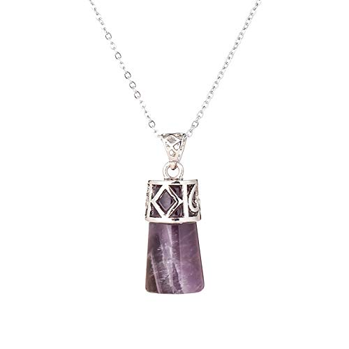 Natural Stone Pendant | Crystal Necklaces & Pendants | Natural Stones | Cylindrical Shaped | Opal Pink Quartz/Healing