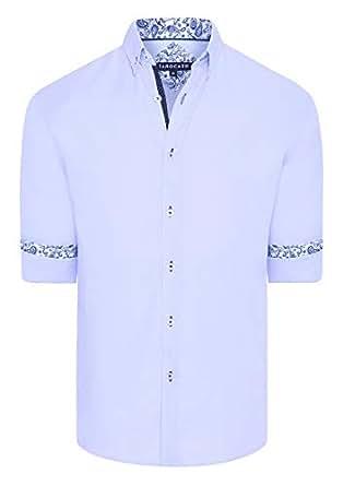 Tarocash Men's Berwick Textured Shirt Lilac S Regular Fit Long Sleeve Sizes XS-5XL for Going Out Smart Occasionwear