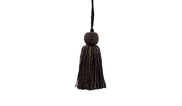 Brown Sold by The Yard D/ÉCOPRO Veranda Collection 3.5 Inch Tassel Fringe Trim Chocolate Color: Chocolate Style# VTF035 Mocha VNT27