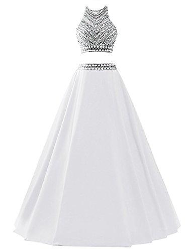 long white beaded dress - 3