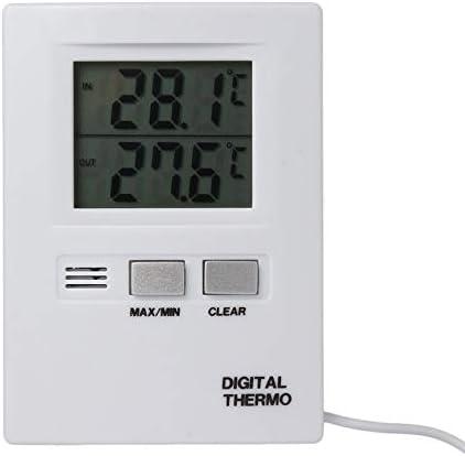 Sanzhileg Affichage num/érique LCD Thermom/ètre Indicateur de temp/érature Testeur Accueil Int/érieur Ext/érieur Conversion de temp/érature C//F Blanc Blanc