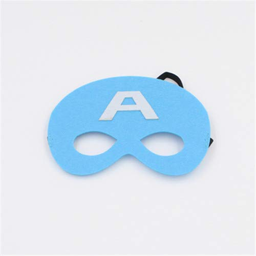 1 Pc Mask Christmas Halloween Masquerade Mask Party Supplies Birthday Party Decorations Kids Super Hero Party Wholesale Sky Blue ()