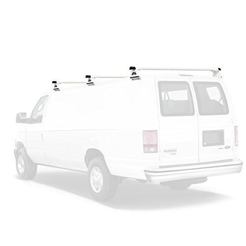 Vantech Aluminum H3 Rack 3 Bar System for a Ford Econoline 1975-91 White ()