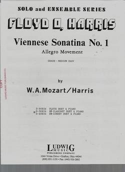 Floyd Allegro - Solo and Ensemble Series Viennese Sonatina No. 1 Allegro Movement - Grade - Medium Easy - B flat Clarinet & Piano by W.A. Mozart