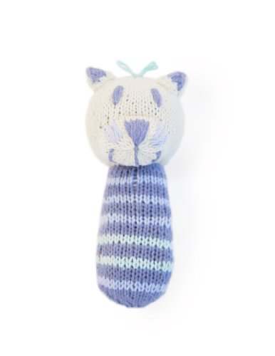 Finn + Emma Organic Cotton Baby Girl Mini Rattle - Cat