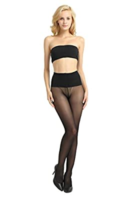 Alice & Belle Women 40 Den Control Top Pantyhose, Soft Tights with Sheer Toe