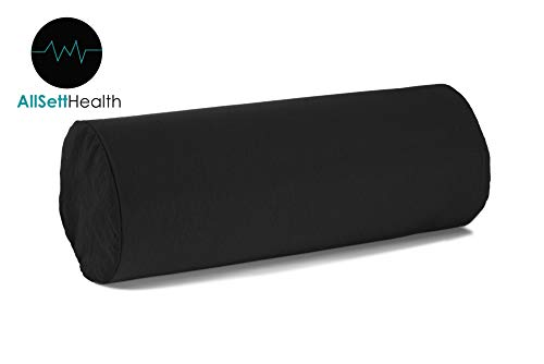 Round Cervical Roll Bolster Pillow Cushion with Removable Wa