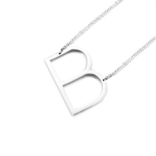 DIANE LO'REN 18K Gold Plated Sideways Initial Letter Charm Necklace (B) ()