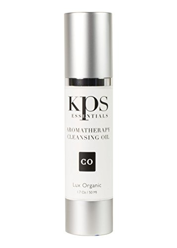 Aromatherapy Facial Cleansing Oil | Gentle Exfoliator & Makeup Remover | Renew while Moisturizing for Noticeably Softer Skin | Organic Face Products with Essential Oil Blends by KPS Essentials