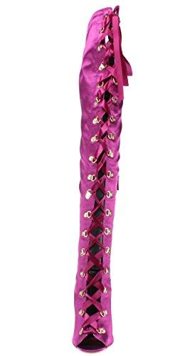Stivali 1 Stiletto Tallone Eleganti up Lce Delle Spuntati Donne Devona Coscia qXw7YXd