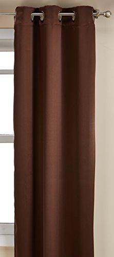 "Sun Zero Easton Blackout Energy Efficient Curtain Panel, 40"" x 63"", Chocolate Brown"