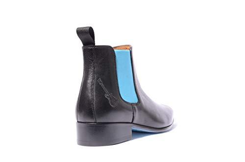 46 Rock turchese 43 e mano Boots Men 41 punto Shoes Chelsea 42 40 44 a fatto Rising Rock Leather Artigianale rinforzato tallone Misure 45 modello Iggy Scarponi 40fBxFwq