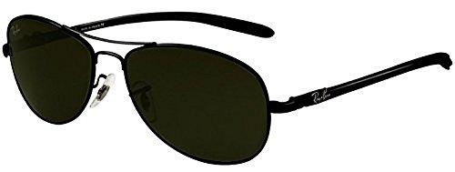 Ray-Ban Tech RB 8301 Sunglasses Black / Crystal Green 59mm & HDO Cleaning Carekit - Bans Ray 8301