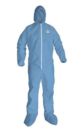 9292419020df Image Unavailable. Image not available for. Color  Kimberly-Clark  KleenGuard A65 Flame Resistant Fabric Coverall with Hood and Boots