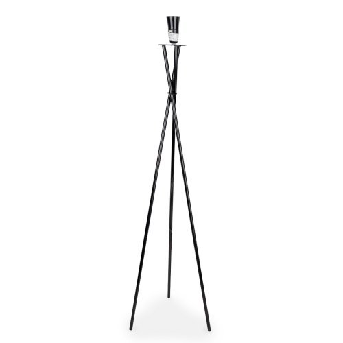 Stunning modern gloss black metal tripod floor lamp base amazon stunning modern gloss black metal tripod floor lamp base aloadofball Choice Image