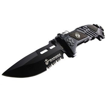 2 X Unlimited Wares USMC Marines Tactical Assisted Opening Folding Knife 5.25-Inch Closed