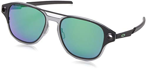 Oakley Men's OO6042 Coldfuse Square Titamium Sunglasses, Matte Black/Prizm Jade Polarized, 52 mm ()