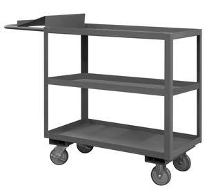 Durham Mfg., Three Shelf Stock Picking Cart, Oc-2436-3, Unit Size-Inches: 24 X 36 X 41, Unit Weight-Pounds: 147, Capacity-Pounds: 1200, Opc-2436-3-95