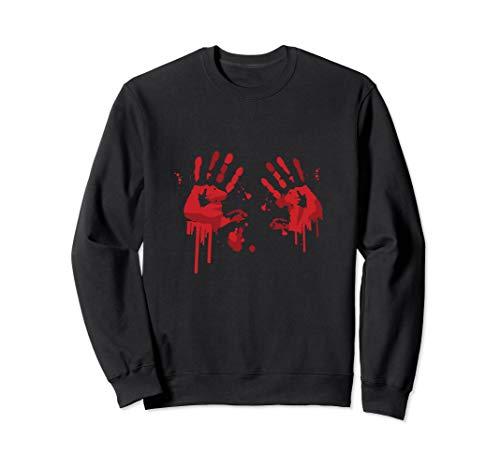 Bloody Hand-Prints Valentine Halloween Butcher Costume Top Sweatshirt -