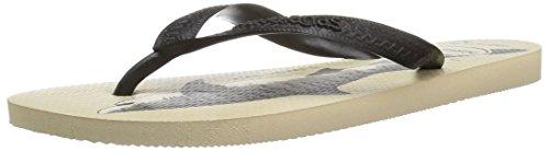 Havaianas Womens Conservation International Sandal  Beige Black 39 40 Br  9 10 M Us