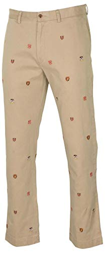 Polo Ralph Lauren Men's Classic Fit Embroidered Collegiate Crest Pants (31W x 30L, Khaki)