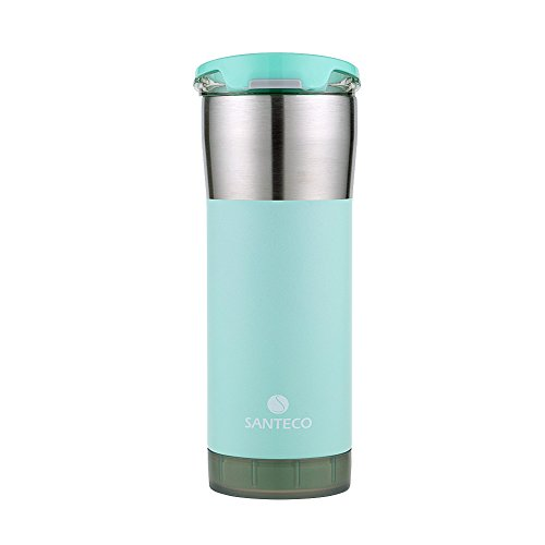 Santeco Origami Thermal Tumbler, 20oz Double Wall Stainless Steel Insulated Coffee Mug, Powder Coated - Mint