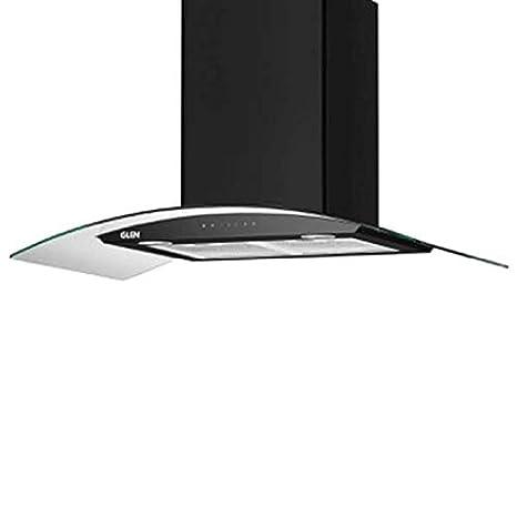 Glen 90cm 1200 m3/hr Auto Clean Chimney (Melissa A Clean 90, 2 Baffle Filters, Touch Control, Black)