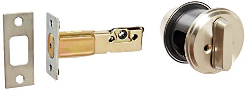 Stanley Commercial Hardware Commercial Single Cylinder SFIC Auxiliary Deadbolt from The QDB200 Collection, 6-Pin, Satin Nickel Finish ()