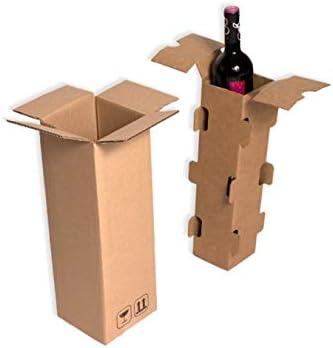 15 Cajas para envío 1 botella con separador interior flotante. Para envíos seguros de botellas.: Amazon.es: Oficina y papelería