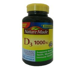 Nature Made Vitamin D3 1000 IU, Mega Size, 650-Count Softgels
