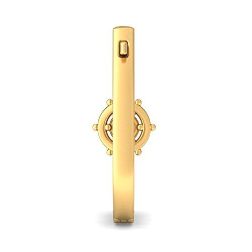 Or jaune 18K 0,32CT TW White-diamond (IJ | SI) Boucles d'oreilles créoles