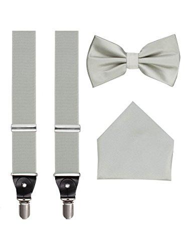 Suspenders Bow Tie Pocket Hanky