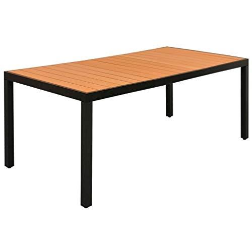 (Clever Market Outdoor Dining Table Patio Durable Garden Porch Table Solid Aluminium Frame Terrace Table (72.8
