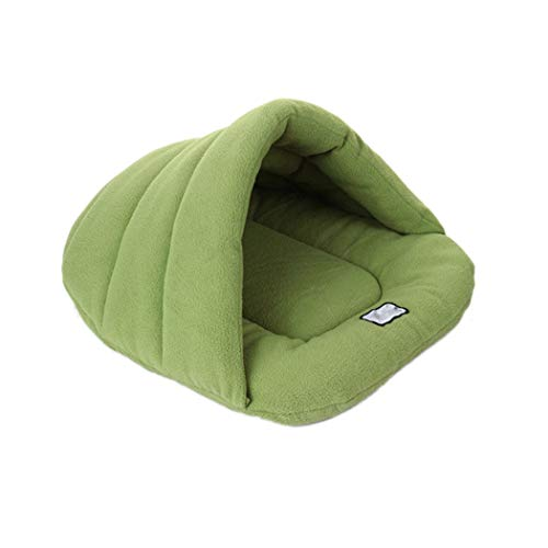 Pet Dog Sofa Bed - Inkach Small Dogs Cats Comfy Tent Bed - Soft Cushion Sleeping Mat Pad Winter Warm Cuddle Nest Cave (XL, Green) (Cuddle Cushion Pets)
