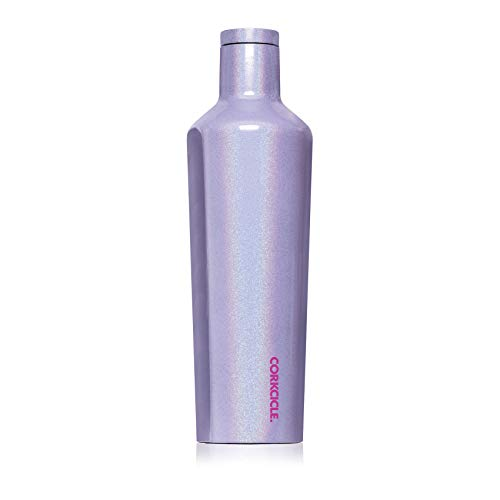 Corkcicle Canteen Classic Collection - Water Bottle & Thermos - Triple Insulated Shatterproof Stainless Steel, Sparkle Pixie Dust, 25 oz
