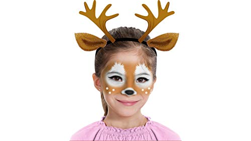 Almar Sales Company INC Deer Makeup Kit for Teens and Adults, Halloween Makeup, 8 -