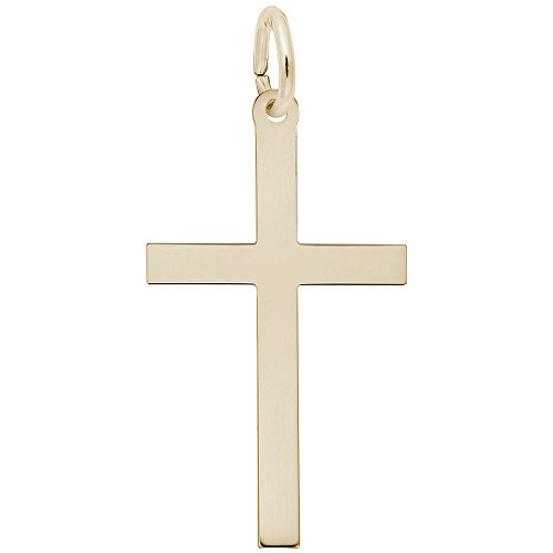 Rembrandt Charms, Cross, 22k Yellow Gold Plated Silver