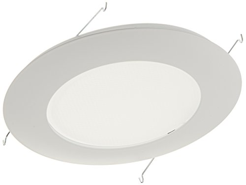 Lens Shower Light Recessed Trim (NICOR Lighting 6-Inch Lexan Shower Trim with Albalite Lens, White (17505))