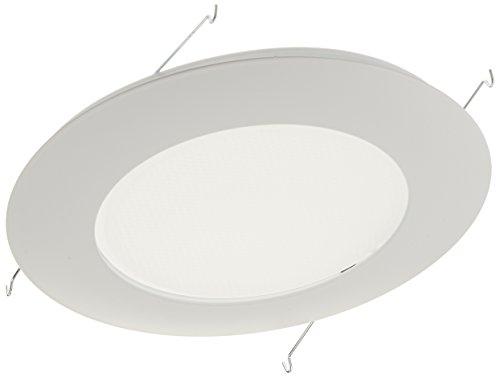 (NICOR Lighting 6-Inch Lexan Shower Trim with Albalite Lens, White (17505))