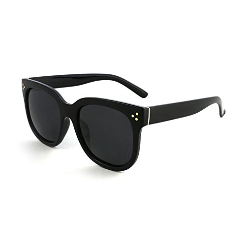 Clásico La Protección Negro UV Retro sol Anti Solar gafas Color Hombres Protección Redondo 100 WYYY Polarizada UVA Sra Plata Marco Luz Decoración de wWaRqnTBX