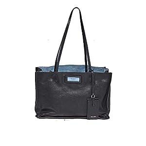 Prada Woman's Nylon Shopping Bag Black