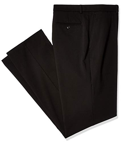 Tommy Hilfiger Men's Stretch Comfort Dress Chino with Expandable Waist, Black, 36W x 29L