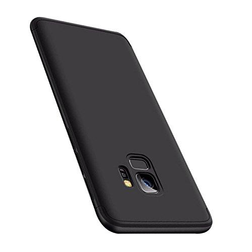 "Coque Samsung Galaxy S9 5.8"" Etui 360 Protection Intgrale 3-en-1 PC Ultra Mince Anti-Choc Anti-Scratch Housse pour Telephone Galaxy S9 Plus Case Coque 6.2"" Noir"