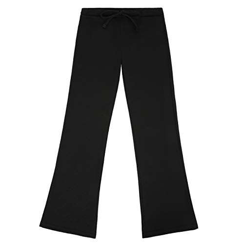 - HDE Girl's Pajama Pants Soft Sleepwear Casual Loose Lounge Bottoms (Black, Large)