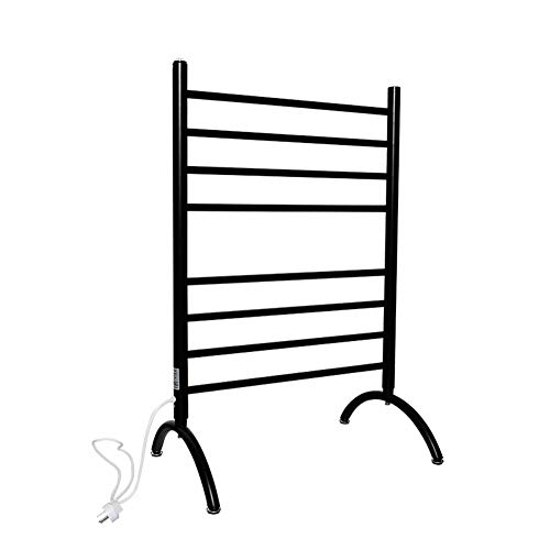 LAAN Floor-Standing Thermostatic Electric Towel Rack,Portable Electrical Towel & Clothes Warmer Stand - Heated Towel Rail,90W Radiator Dryer, 61×91.4cm (Color : ()