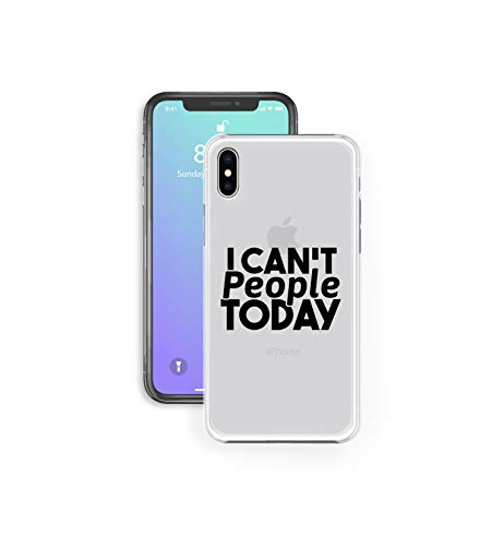 Compatible for iPhone 6/6S - Super Slim Case - I Can't People Today - Sassy Quotes - Anti Social - Sarcasm (C) Andre Gift Shop -