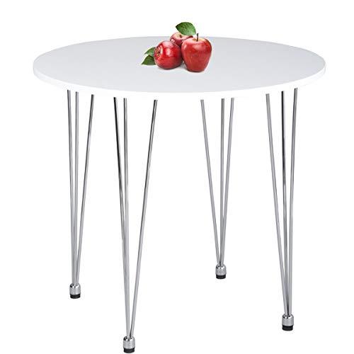 GreenForest Round Dining Table Modern Metal Craft Legs Pedestal Leisure Table, - Green Pedestal Table Round