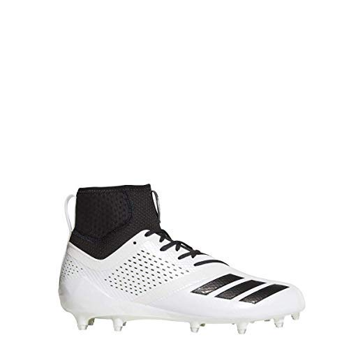 adidas Adizero 5Star 7.0 Mid Cleat Men's Football 12 White-Black
