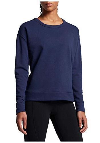 NIKE Womens Dry Open Back Training Pullover Top Navy XS ()